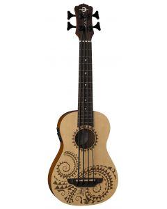 Luna Bari-Bass w/Preamp & Gig Tattoo Spruce UKE BBASS TAT sku number UKE BBASS TAT