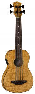 Luna Bari-Bass w/Preamp & Gigbag Quilt Top UKE BBASS QA UKE BBASS QA