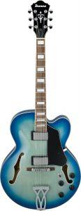 Ibanez AF Artcore Jet Blue Burst AF75 JBB Hollow Body Electric Guitar AF75JBB
