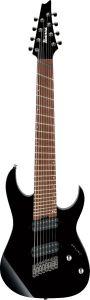 Ibanez RG RGMS8 BK Multi Scale 8 String Black Electric Guitar RGMS8BK