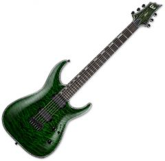 ESP LTD H-1001 Electric Guitar See Thru Green B Stock LH1001QMSTG.B