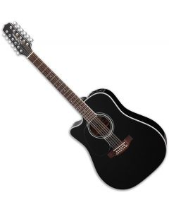 Takamine EF381SC Left Hand 12 String Acoustic Guitar in Black sku number TAKEF381SCLH