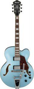 Ibanez AFS75T STF AFS Artcore 6 String Steel Blue Flat Semi Hollow Body Electric Guitar AFS75TSTF