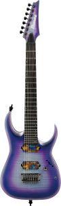 Ibanez RGA71AL IAF RGA Axion Label 7 String Indigo Aurora Burst Flat Electric Guitar RGA71ALIAF
