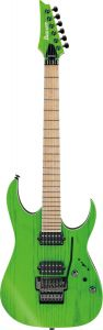 Ibanez RGR5220M TFG RG Prestige 6 String Transparent Fluorescent Green Electric Guitar w/Case RGR5220MTFG