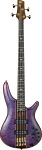 Ibanez SR Premium SR2400 4 String Amethyst Purple Low Gloss Bass Guitar SR2400APL