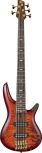 Ibanez SR Premium SR2405 5 String Brown Topaz Burst Low Gloss Bass Guitar SR2405WBTL