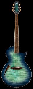 ESP LTD TL-6 Thinline Aqua Marine Burst Electric Guitar LTL6FMAQMB