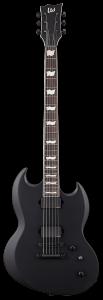ESP LTD VIPER-400 Baritone Black Satin Electric Guitar LVIPER400BBLKS