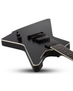 Schecter E-1 SLS Elite Evil Twin Electric Guitar in Satin Black sku number SCHECTER1343