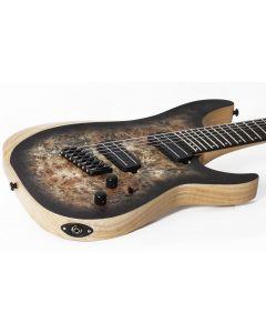 Schecter Reaper-7 Multiscale Electric Guitar in Satin Charcoal Burst sku number SCHECTER1509