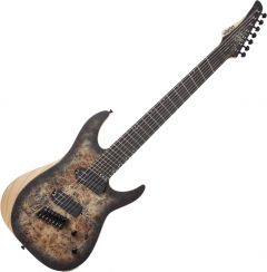 Schecter Reaper-7 Multiscale Electric Guitar in Satin Charcoal Burst SCHECTER1509