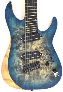 Schecter Reaper-7 Multiscale Electric Guitar in Satin Sky Burst SCHECTER1510