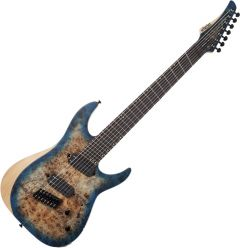 Schecter Reaper-7 Multiscale Electric Guitar in Satin Sky Burst SCHECTER1510