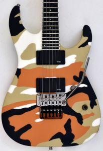 ESP E-II M-II Neck Thru Body Electric Guitar in Desert Camo EIIMIINTDC