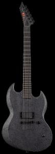 ESP LTD Reba Meyers Code Orange RM-600 Black Marble Satin Electric Guitar w/Case LRM600BMS