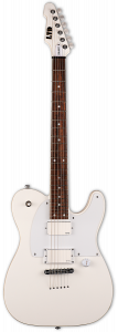 ESP LTD Ted Aguilar TED-600T Death Angel Snow White Electric Guitar w/Case LTED600TSW