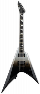 ESP E-II Arrow NT Black Silver Fade Electric Guitar w/Case EIIARROWNTBLKSFD