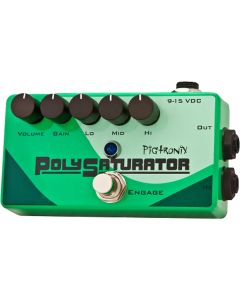 Pigtronix PolySaturator Multi-stage Distortion with 3-Band Active EQ Guitar Pedal sku number PSO