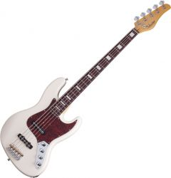 Schecter Diamond-J 5 Plus Electric Bass in Ivory Finish SCHECTER2864
