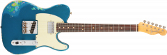Fender Custom Shop Limited Edition Heavy Relic '60s HS Tele  Aged Lake Placid Blue over Blue Flower Electric Guitar 1510600802