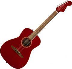 Fender Malibu Classic Acoustic Guitar Hot Rod Red Metallic 970922215