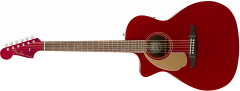 Fender Newporter Player LH  Candy Apple Red Acoustic Guitar 970748009