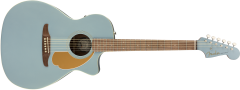Fender Newporter Player  Ice Blue Satin Acoustic Guitar 970743062