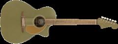 Fender Newporter Player  Olive Satin Acoustic Guitar 970743076