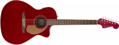 Fender Newporter Player  Candy Apple Red Acoustic Guitar 970743009