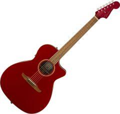 Fender Newporter Classic Acoustic Guitar Hot Rod Red Metallic 970943215