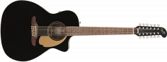 Fender Villager 12-String  Black Acoustic Guitar 970753006