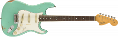 Fender Custom Shop 1967 Stratocaster Relic - Rosewood  Faded Aged Sea Foam Green Electric Guitar 9235000831