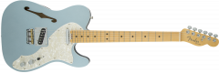 Fender American Elite Telecaster Thinline  Mystic Ice Blue Electric Guitar 114312762