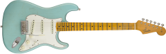 Fender Custom Shop 2018 Postmodern Stratocaster - Maple Fingerboard - Journeyman Relic  Aged Daphne Blue Electric Guitar 9235000568