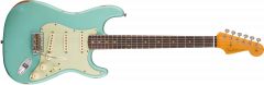 Fender Custom Shop 1960 Relic Stratocaster  Aged Daphne Blue Electric Guitar 1530160804