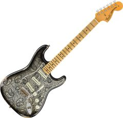 Fender Custom Shop Limited Edition '68 Paisley Strat Relic Electric Guitar Black Paisley 9235000743