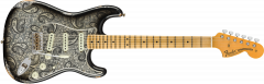 Fender Custom Shop Limited Edition '68 Paisley Strat Relic  Black Paisley Electric Guitar 9235000743
