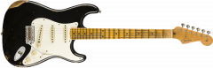 Fender Custom Shop 1959 Stratocaster Heavy Relic - Maple  Aged Black Electric Guitar 9235000816