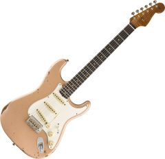 Fender Custom Shop Limited Roasted Tomatillo Strat Relic Electric Guitar Aged Dirty Shell Pink 9235000876