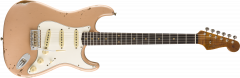 Fender Custom Shop Limited Roasted Tomatillo Strat Relic  Aged Dirty Shell Pink Electric Guitar 9235000876