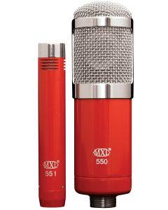 MXL 550/551R Microphone Ensemble sku number MXL-550/551R
