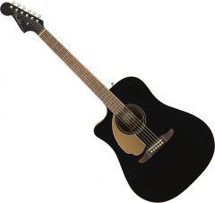 Fender Redondo Player Left Hand Acoustic Guitar Jetty Black 0970718506