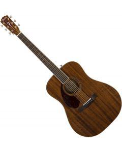 Fender PM-1 Dreadnought Left Hand All-Mahogany Acoustic Guitar 0970315322