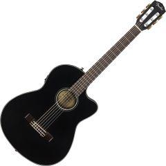 Fender CN-140SCE Nylon Thinline Acoustic Guitar Black 0970264306