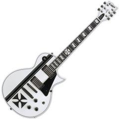 ESP Iron Cross Snow White James Hetfield Guitar with Case EIRONCROSSSW