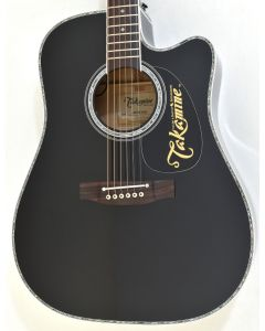 Takamine EF341DX Dreadnought Acoustic Electric Guitar Black TAKEF341DX