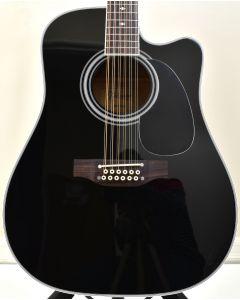 Takamine EF381SC 12 String Acoustic Guitar in Gloss Black B-Stock 0909 TAKEF381SC.B 0909