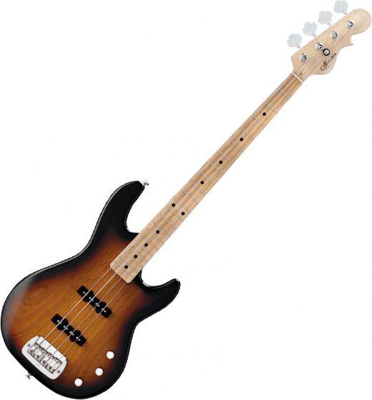G&L Tribute JB-2 Bass Guitar in 3-Tone Sunburst Finish sku number TI-JB2-120R20M00