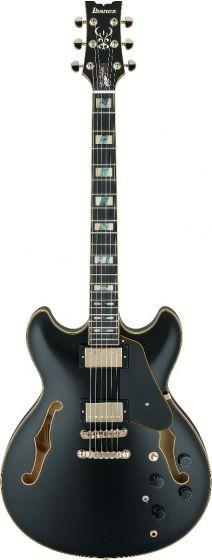 Ibanez JSM20 BKL John Scofield Black Low Gloss Hollow Body Electric Guitar w/Case JSM20BKL